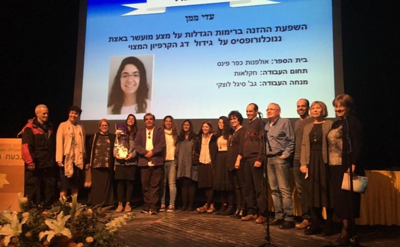 עדי ממן-בוגרת האולפנא, זוכת פרס גור אריה עבודות גמר תשעט 2